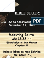 Bible Study Nov. 11 2018