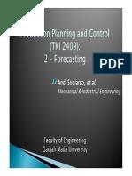 PPC 2 - Forecasting