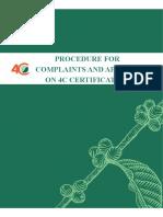 4C Procedure for Complaints and Appeals on 4C Certification v.1.8 En