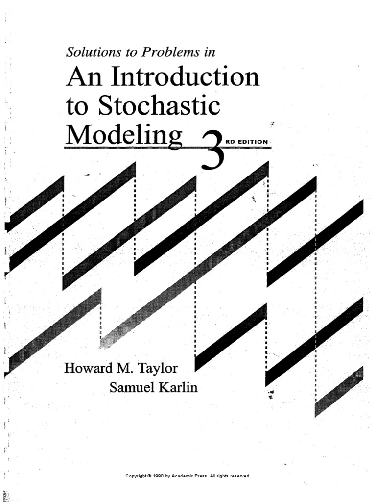 Solutions Manual Stochastic Modeling
