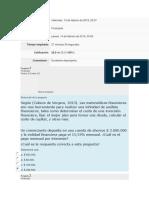 Examen de Entrada #1 Matematicas Financieras  UNAD
