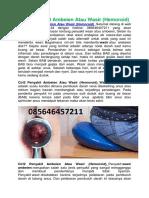 Ciri2 Penyakit Ambeien Atau Wasir (Hemoroid)