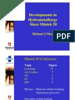 A03 Nicol Developments in Hydrometallurgy