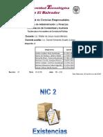 NIC 2 Existencias