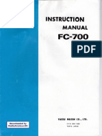 Manual Yaesu FC-700