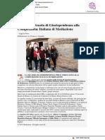 Uniurb, la squadra di Giurisprudenza alla Competizione di Mediazione - Il Mascalzone.it, 13 febbraio 2019