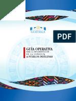 Guatemala-Guia Operativa para la implementacion de la consulta a pueblos indigenas  - Operational Guide for Consultations with Indigenous Peoples