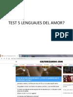 Test 5 Lenguajes Del Amor