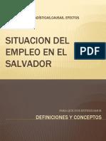 Situacion Del Empleo en El Salvador