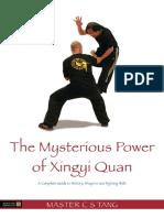 the misterious power of xingyi quan