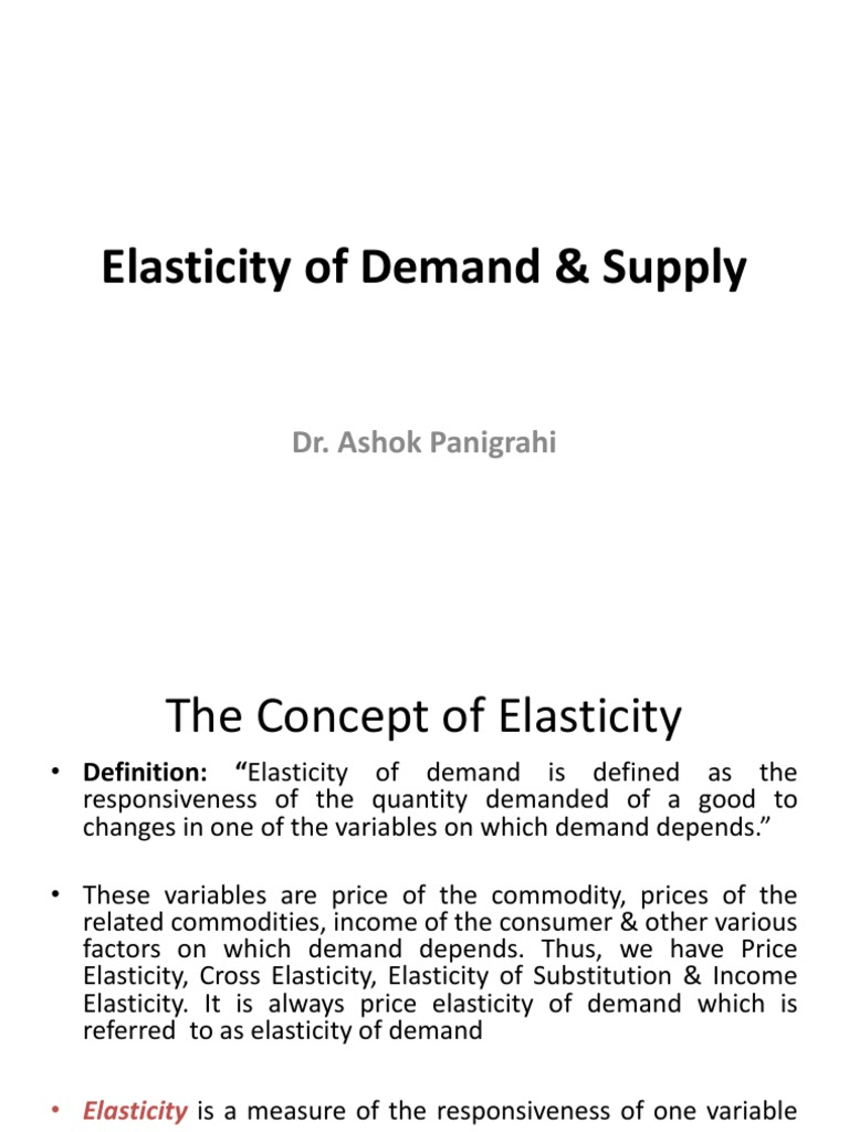 Elesticity Of Demand Price Elasticity Of Demand Demand Free 30 Day Trial Scribd