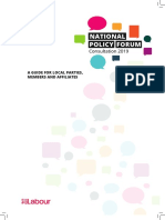 NPF Consultation 2019 a Guide for Local Parties, Members and Affiliates