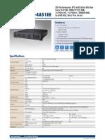 Advantech SYS 2U2320 4A51EE Datasheet