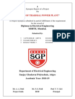 1. Synopsis Front Page Thermal Power Plant PSM 1