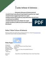 Karakteristik 5 Pulau Terbesar Di Indonesia
