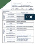 Syllabus Dematemática IV Secundaria - IV Bimestre