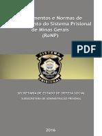 Regulamento e Normas de Procedimentos do Sistema Prisional