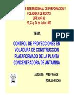 2a. Control de Proyecciones de Voladura de Plataformados en Planta Concentradora Antamina (24-Jul
