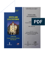 Unitatea limbii și culturii române