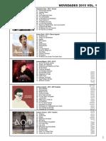 Catalogo Novedades Mp3 2015-2016
