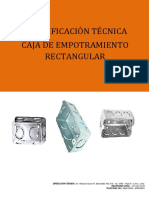 Especificaciones Técnicas Caja Rectangular Arviil 2018