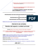 Formato Proyecto de Catedra 2017