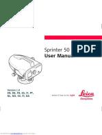 LEICA Sprinter_50 Manual