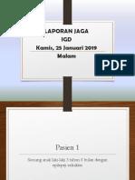 Lapjag IGD 24 Januari 2019