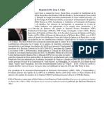 Biografía Jorge Colón para seminario en Perú