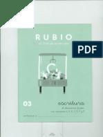 Cuaderno Rubio Escritura o3