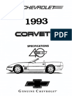 1993 Chevrolet Corvette Specifications