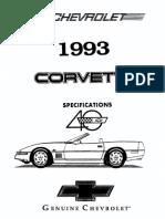 1993 Chevrolet Corvette Specifications