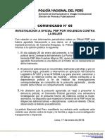 COMUNICADO PNP N° 05 - 2019