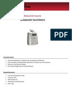 Manual de Usuario Grabador Telefónico SIM en MicroSD 28-12-2016