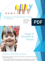 Disability of School-Age Children in Ontario Vs