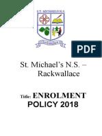 enrolment policy 2018