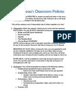 classroom procedures and policies