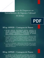 27.09 a Recuperação Judicial No Entendimento Do STJ