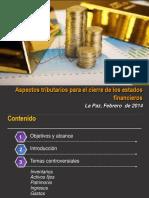 Aspectos tributarios para el cierre de los EEFF 2013Final