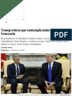 Trump Reitera Que Contempla Todas Las Opciones en Venezuela _ Estados Unidos _ EL PAÍS