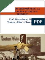 Prezentare Contribuţii Româneşti La Dezvoltarea Ştiinţei Şi Tehnicii