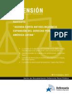Documentos estudio, agenda corta delincuencia