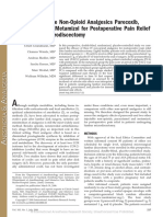 The Efficacy of the Non-Opioid Analgesics Parecoxib,