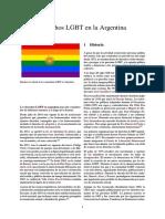 Derechos LGBT en La Argentina