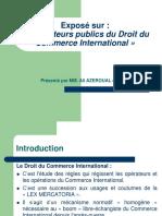 Les Acteurs Publics Du Droit Du Commerce International