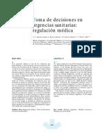 Regulacion Medica Prehospitalaria