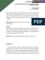 Legado indígena. Una estrategia pedagógica decolonial para la enseñanza de saberes indígenas en la escuela . Anyie Paola Silva Páez. Colegio La Concepción (Bogotá).