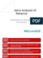 Reliance BCG Matrix-Emmanuel