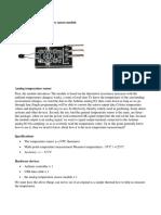 Arduino KY-013 Módulo Termistor