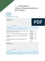 Deveres, Proibições e Responsabilidades Do Servidor Público Federal - SABERES SENADO